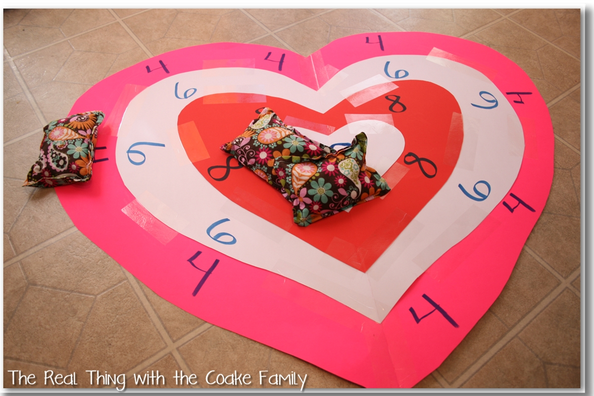 Activities For The Family Valentine S Bean Bag Toss