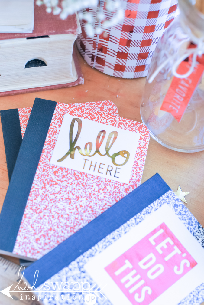 Back to School Mini Minc Style |  @jamiepate for @heidiswapp | Decorate and create back to school gifts using the Mini Minc to foil it all up in old school style.