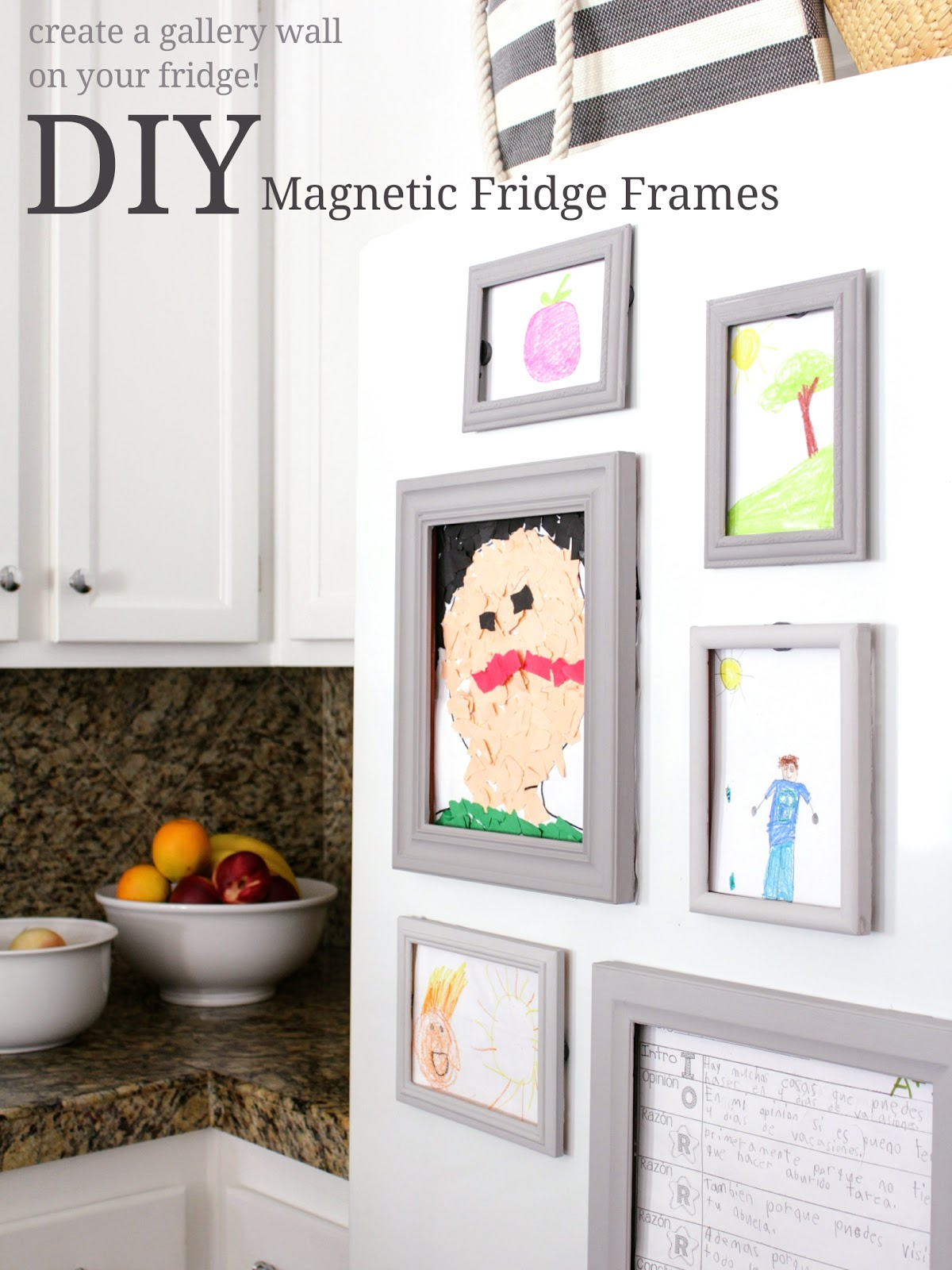 Oscar bravo home diy magnetic fridge frames if you want some more tips on what to do with all that stuff kids come home with then you should check out my blog post on organization jeuxipadfo Gallery