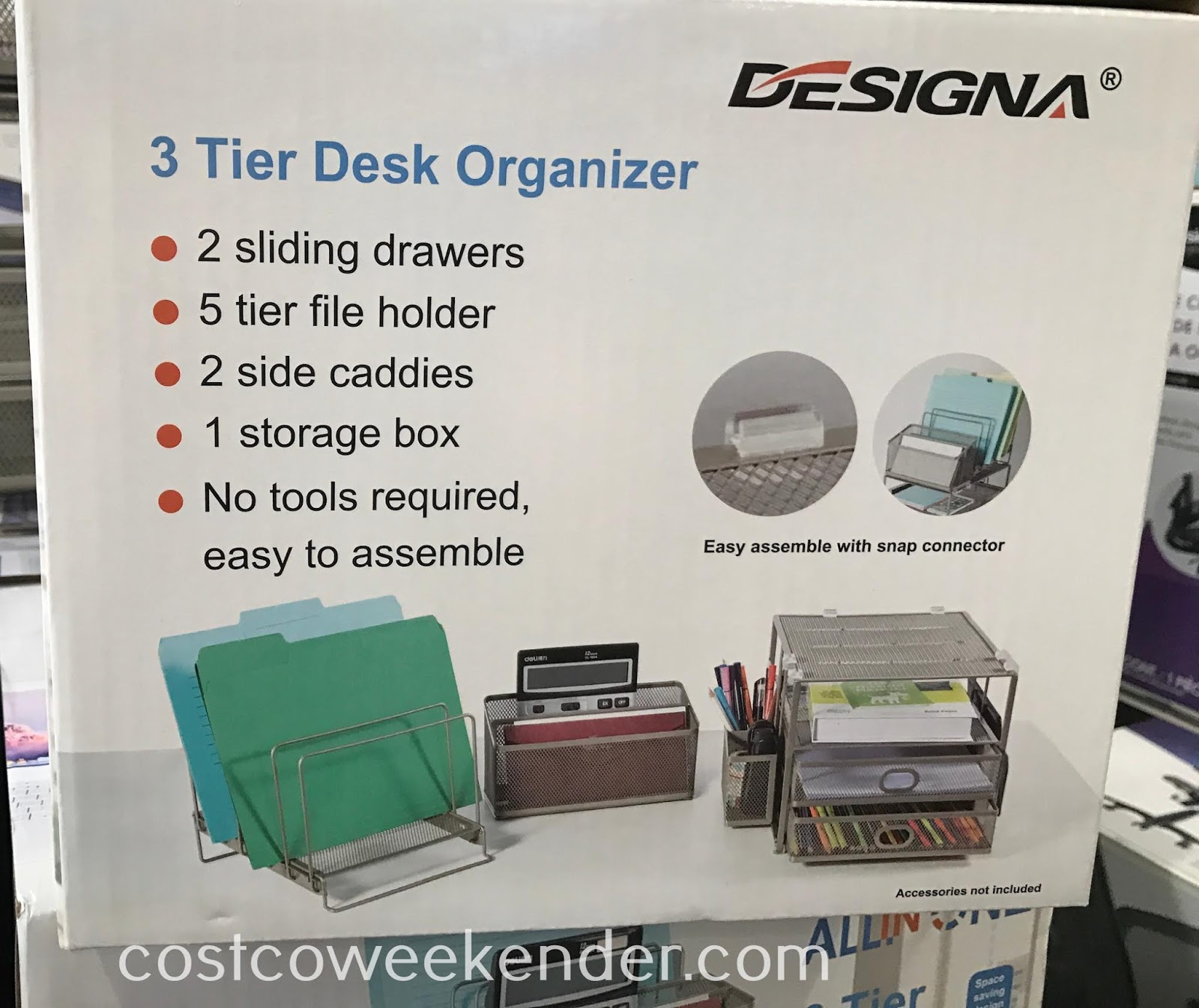 Costco 1226138 - Sunrising 3 Tier Desk Organizer: great for any home or office space