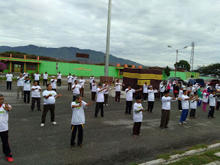 Senam Haji Sehat & Edukasi Kesehatan kpd Jamaah Haji Kab. Solok, Sumatera Barat 15 Juli 2017