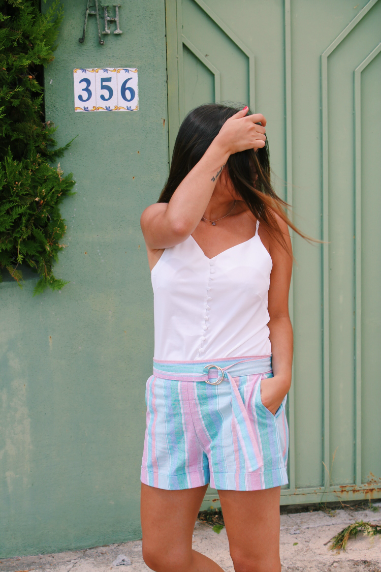 shorts de rayas blog de moda leon