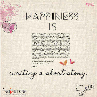 Happiness is writing a short story!