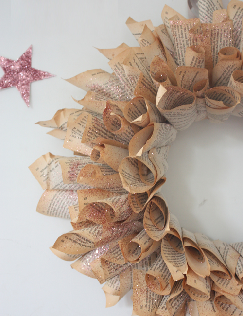 The Happy Home How To Make A Book Page Wreath