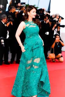 Aishwarya Rai Green Dress Full Body