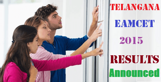 Telangana TS EAMCET Results Announced
