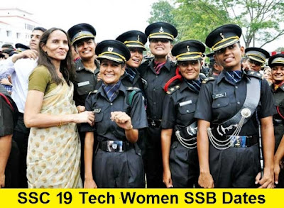 SSC 19 Tech Women SSB Dates, Centre Allotment and Merit List