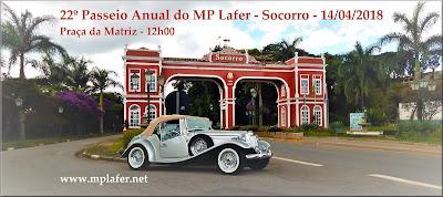 A Secretaria de Turismo de Socorro pede e a gente faz: um banner promocional do evento do MP Lafer na cidade, com 1950 por 870 pixels.