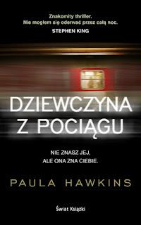 We wrześniu przeczytałam książkę Pauli Hawkins Dziewczyna z pociągu. Jest to jedna  z pozycji, której się nie czyta, tylko pochłania. To książka, od której ciężko się oderwać i warto zarywać noce, aby móc dowiedzieć się, co będzie dalej. Jak dla mnie super. Bardzo lubię thrillery, które trzymają w napięciu do samego końca. Spotkałam się z różnymi opiniami, nieraz negatywnymi, jednak ja nie miałam sprecyzowanych oczekiwań względem tej pozycji i może dlatego się nie rozczarowałam. Bardzo ciekawa jestem ekranizacji tej książki, która ma się pojawić niebawem w kinach. Ale póki co, książkę serdecznie polecam na długie jesienne wieczory.