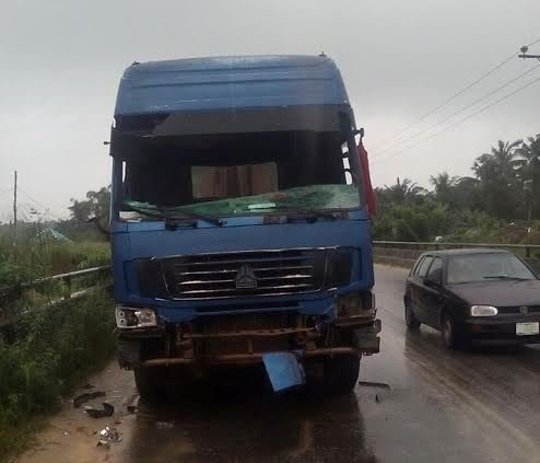 Man dies, two others injured in head-on collision with truck at Ibeju-Lekki Epe link bridge