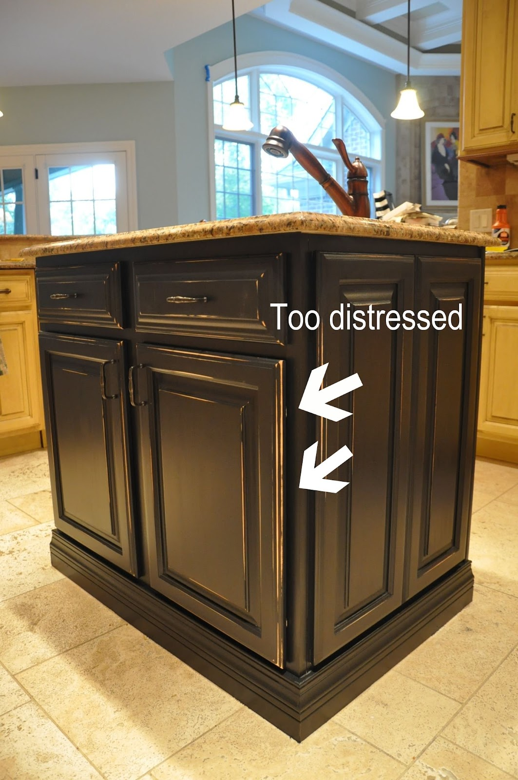 painted kitchen islands home depot remodel island reveal evolution of style