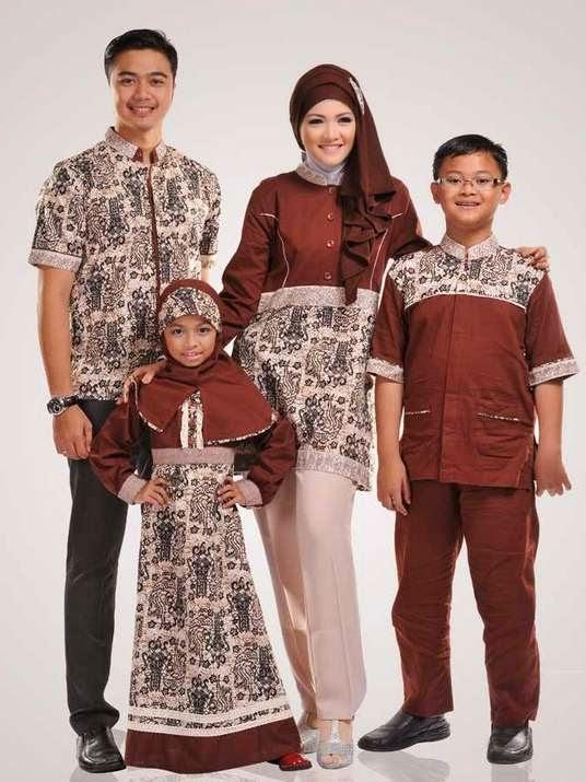 Contoh gambar model baju muslim anak sarimbit