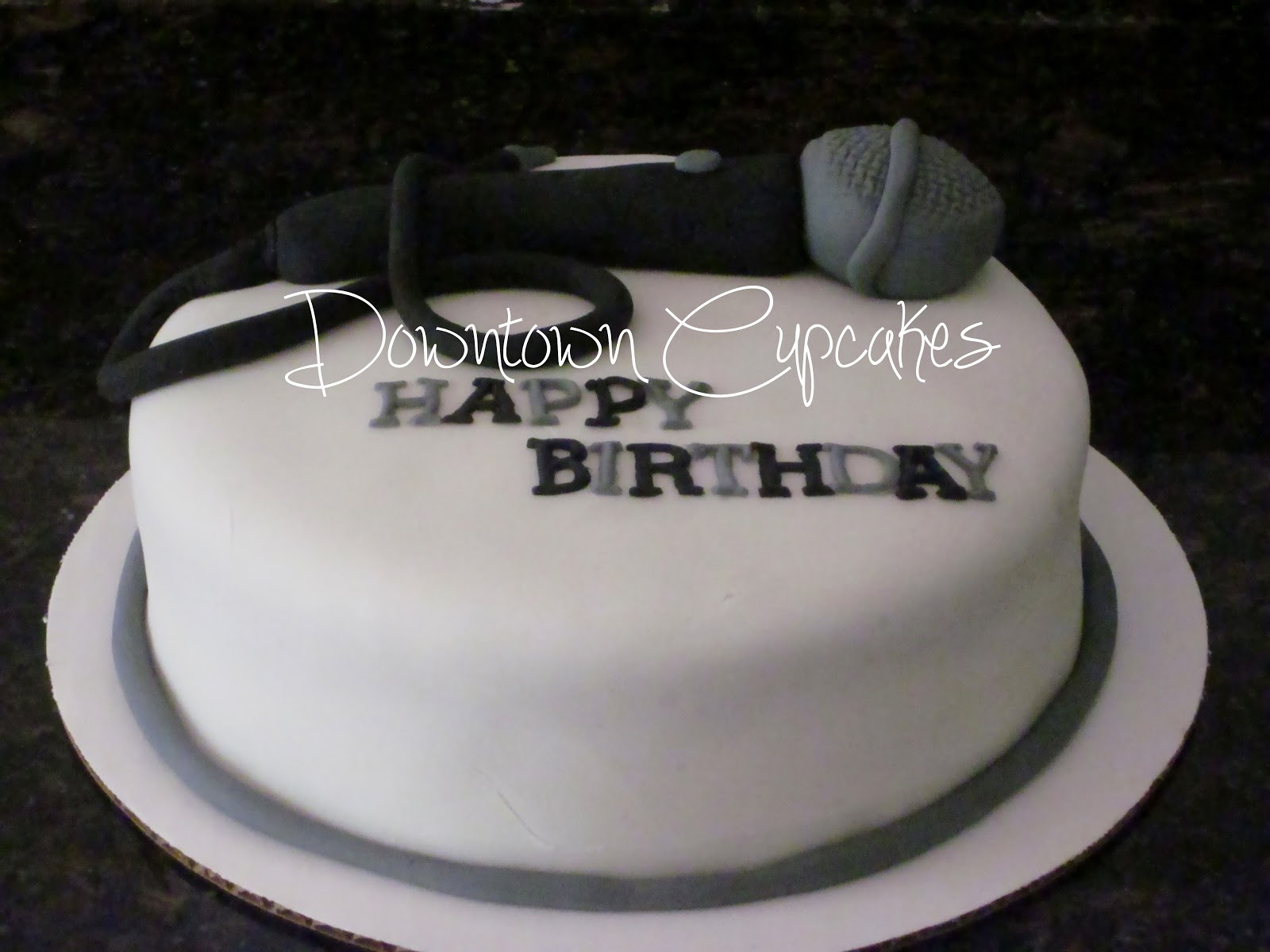 Downtown Cupcakes Microphone Cake