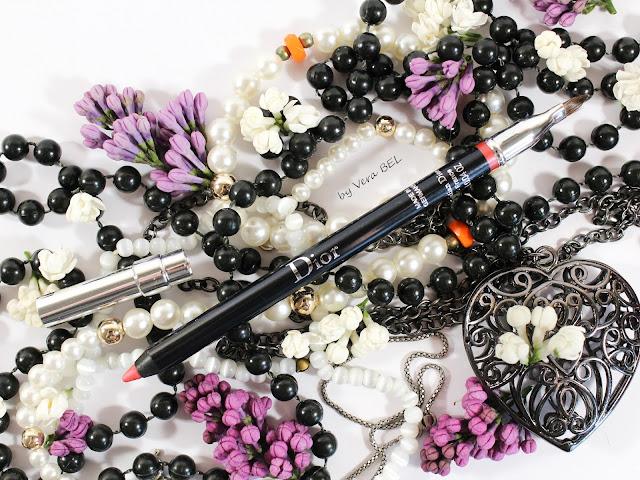 Karandash dlya gub Dior Crayon Contour Levres 362 Rose Eclat Obzor / Otzyiv / Svochi / Review / Swatches / Vera Bel