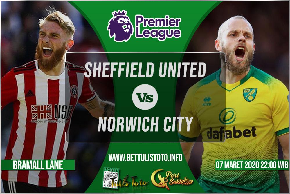 Prediksi Sheffield United vs Norwich City 07 Maret 2020