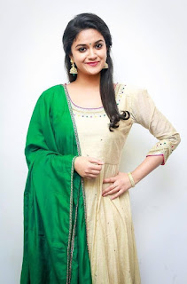 Keerthy Suresh in Wheat Color Dress with Cute and Lovely Smile 4