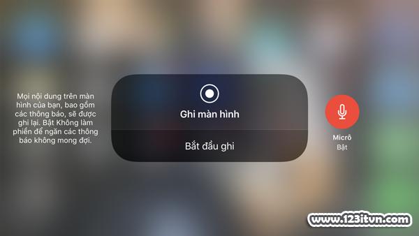 Cách quay màn hình có âm thanh trên ios