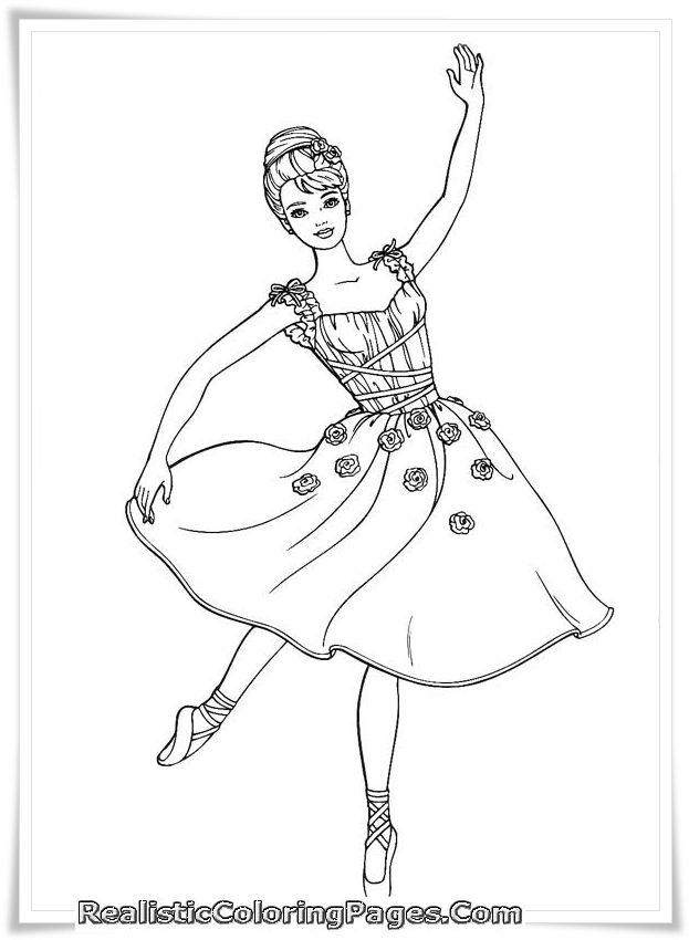 Printable Barbie And 12 Dancing Princesses Coloring Sheet