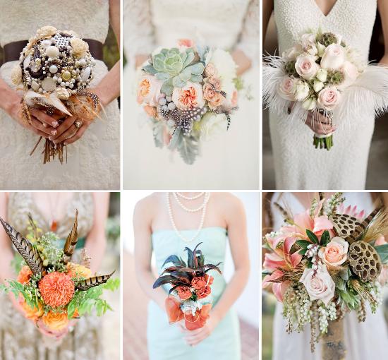 feathers wedding, roaring 20s wedding, feathers wedding bouquet