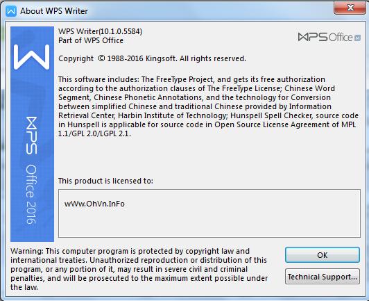 Tải về WPS Office 2016 Premium v10.1.0.5614 Full