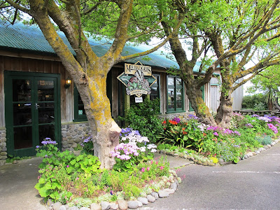 Outside of Mr Badger's cafe at Tawhiti Museum.