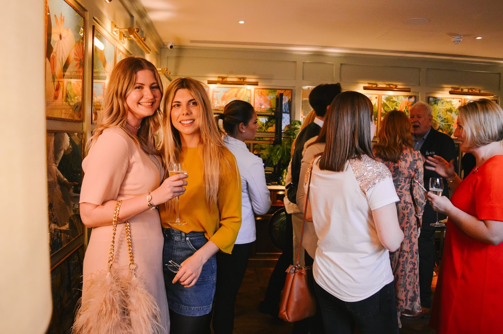 Blogger Lana from Dalry Rose Blog and Emma from Winchest_her at Winchester Fashion Week launch party