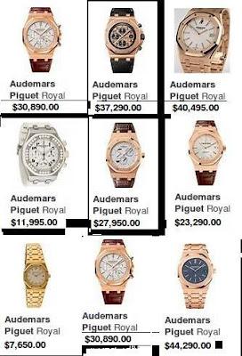 Audemars piguet Watches price list