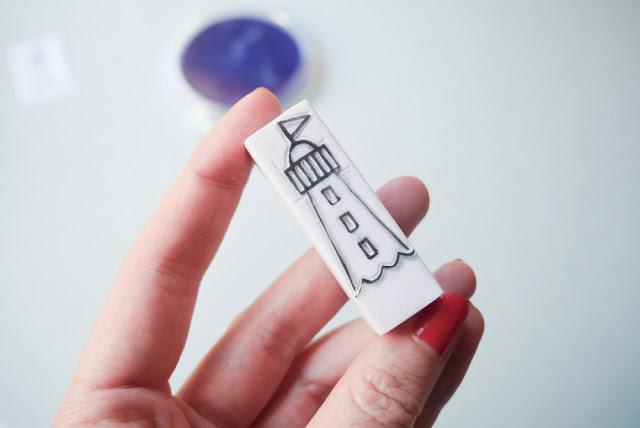 DIY gravure sur gomme