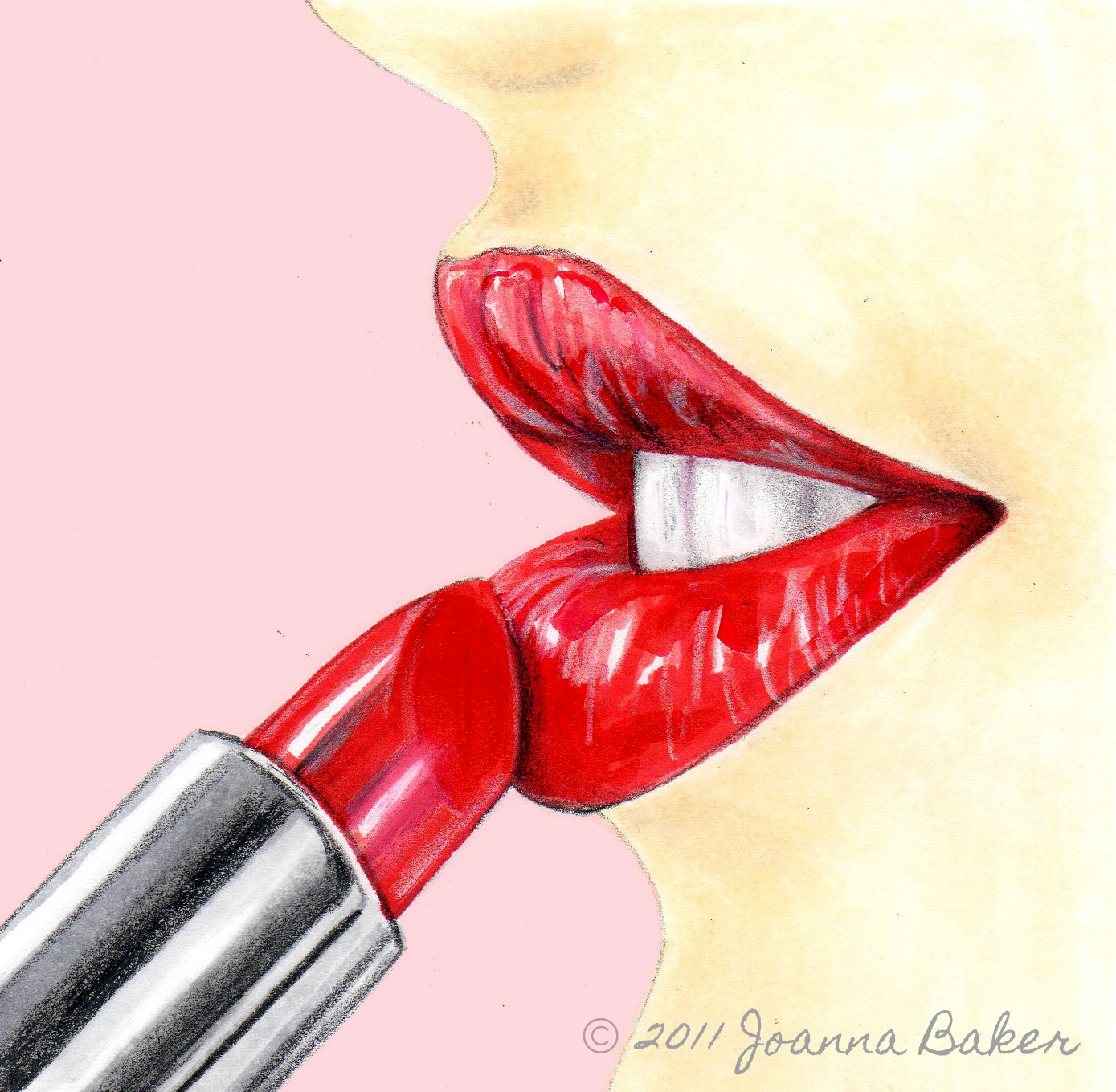 How To Draw Lips With Lipstick