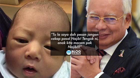 Suami Sering Cakap Pasal Najib Masa Isteri Mengandung, Lihat Apa Yang Terjadi Pada Anaknya Selepas Lahir