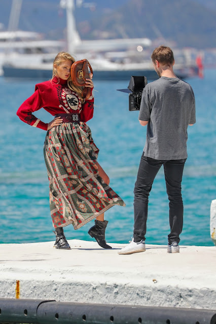 Romee Strijd - On set of a photoshoot on the Croisette in Cannes, France - Wed May 15 2019