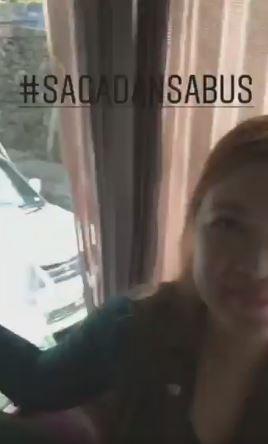 Angel Locsin Tries The Taho In Sagada