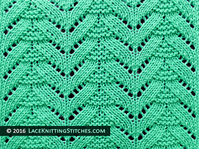 Popular lace knitting pattern - 22 -