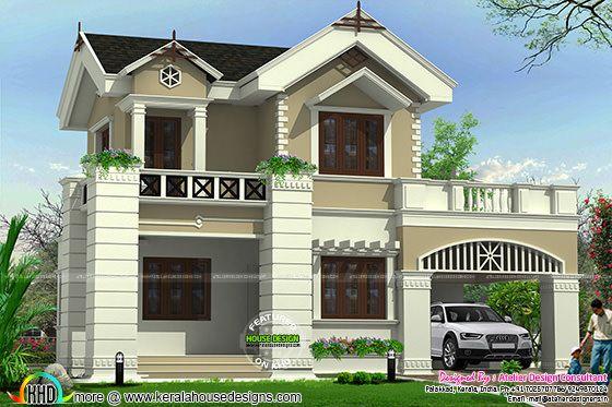 Cute Victorian model home