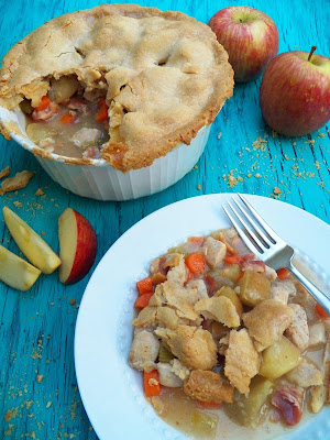 Chicken Apple and Bacon Pot Pie