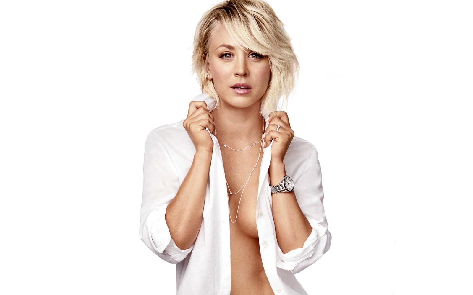 braless Snapchat Kaley Cuoco naked photo 2017