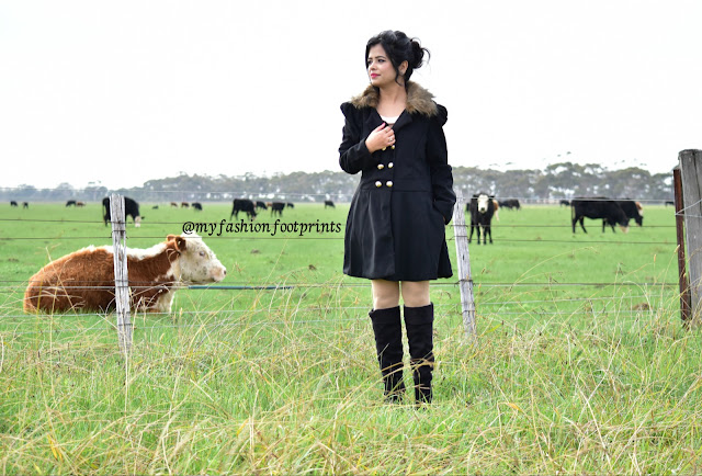 Black trench coat - OOTD and rosegal review