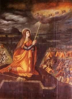 Foto de Santa Genoveva en pintura