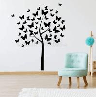 vinilos decorativos para pared,habitacion,arboles, mariposas, tree