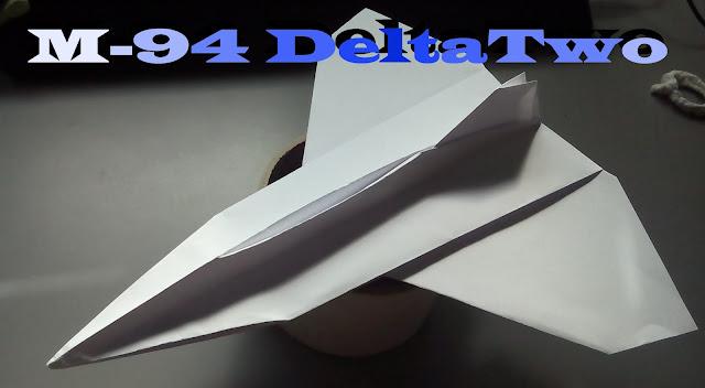 Avión de papel M-94 DeltaTwo