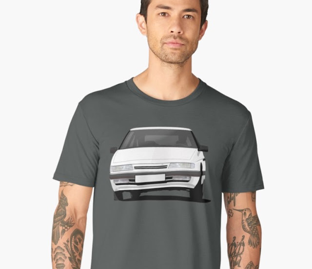 Citroën XM classic t-shirt illustration
