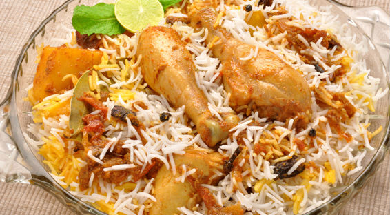 tasty and very popular hyderabadi chicken biryani