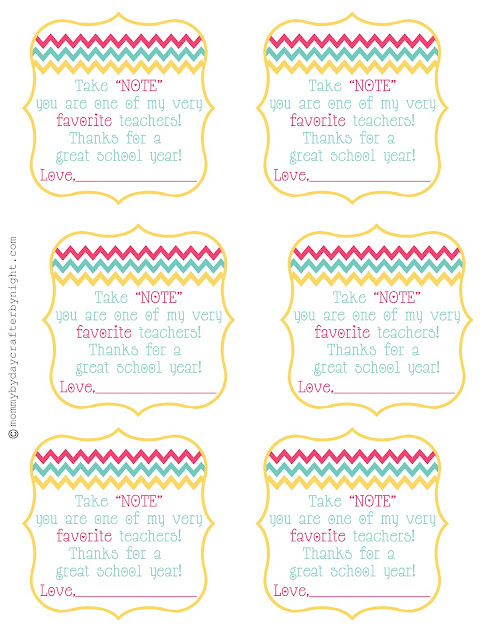 Teacher gift idea free printable teacher appreciation skip to you could use this little tag with a notebook sticky notes journal etc and it would work perfectly super easy thecheapjerseys Gallery