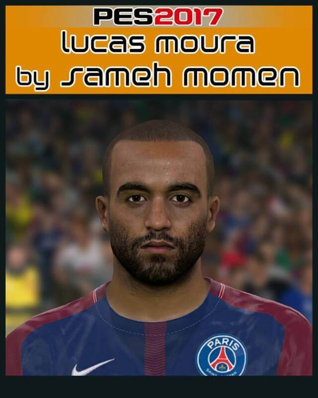 Lucas Moura Face - PES 2017 - PATCH PES