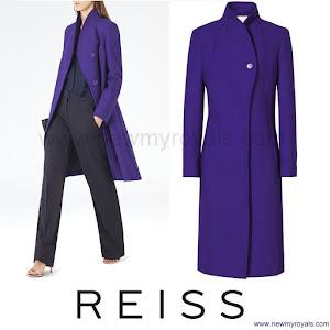 Kate Middleton Style Reiss Emile sharply tailored coat