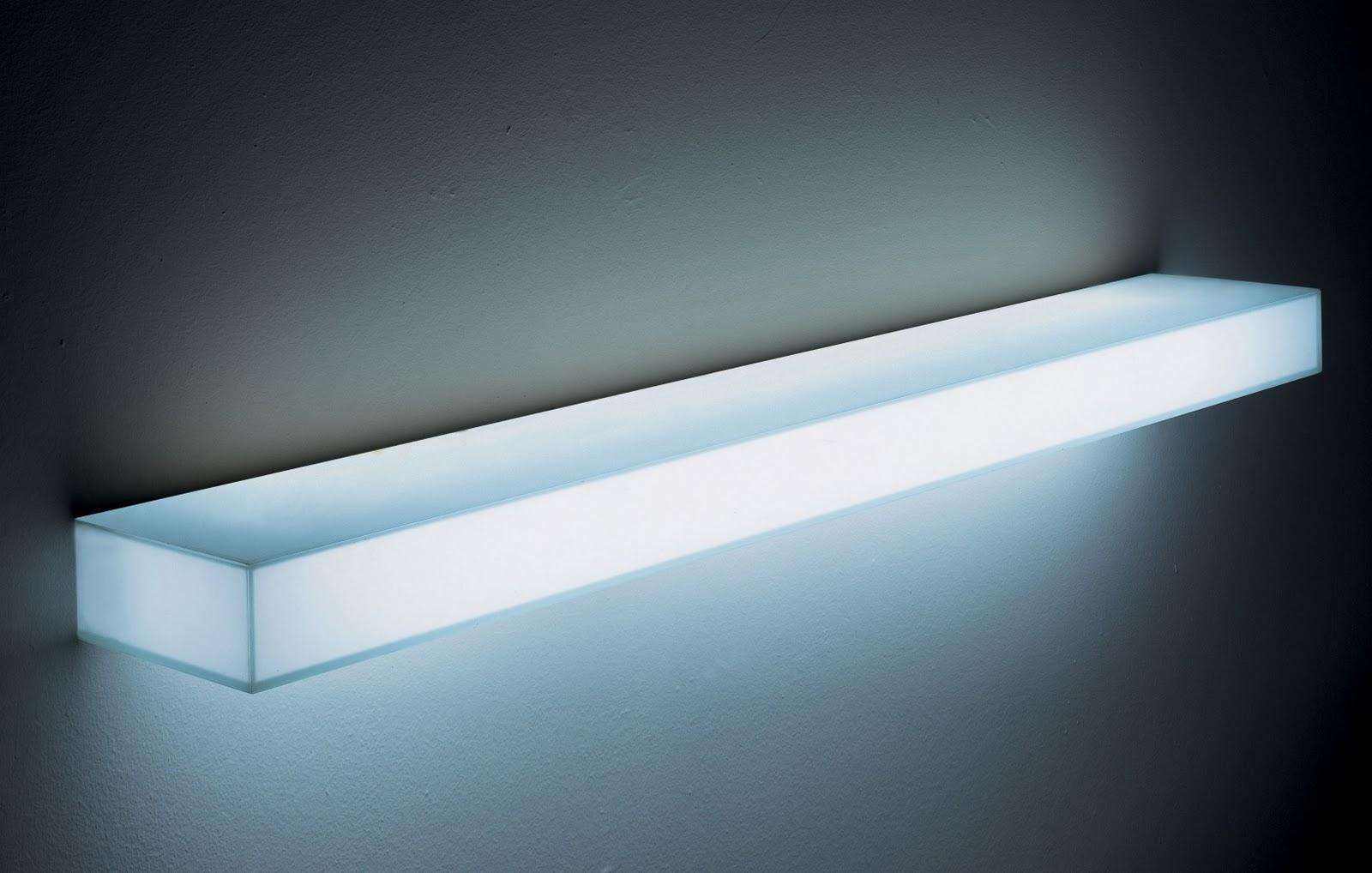 illuminated wall shelving modern design by. Black Bedroom Furniture Sets. Home Design Ideas