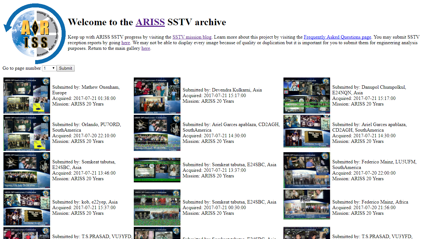 SSTV Event from ISS celebrating 20th Anniversary of ARISS - Devendra