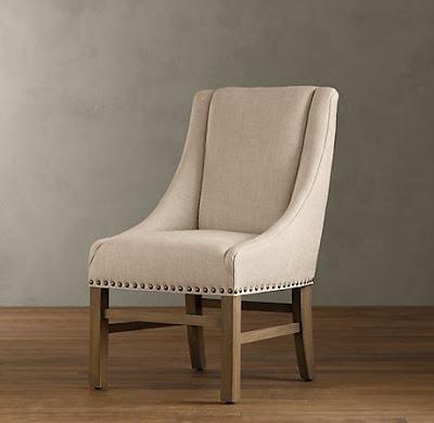 Restoration Hardwareu0027s Nailhead Upholstered Chair