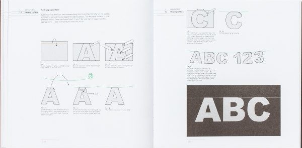 alphabet hanging letters project pages Illustrations from Cut and Fold Techniques for Promotional Materials, Revised Edition