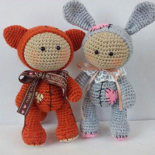 Amigurumi Baby Dolls in Animal Costumes - Free Pattern